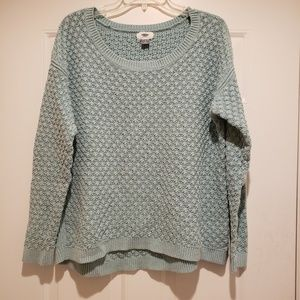 Old Navy Green CableKnit Sweater Size Large